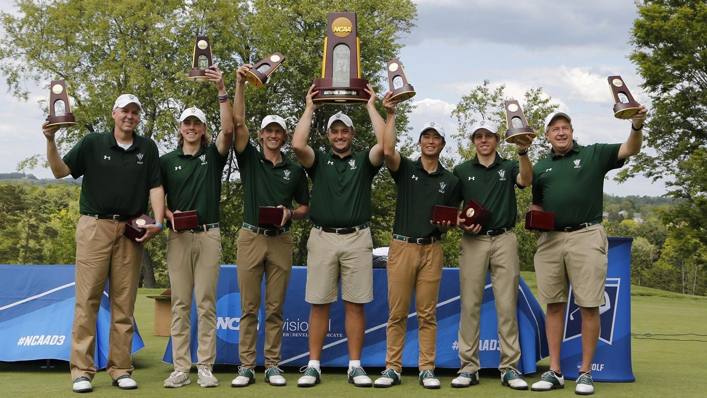 WHEELING, WV - MAY 14: Action from the Division III MenÕs Golf Championship held at the Oglebay Resort on May 14, 2021, in Wheeling, West Virginia. (Photo by Jay LaPrete/NCAA Photos/via Getty Images)